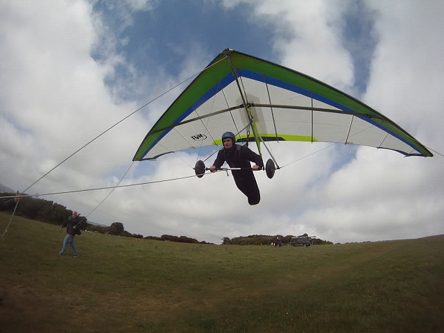 Fun 160 school Hang Glider tether flight