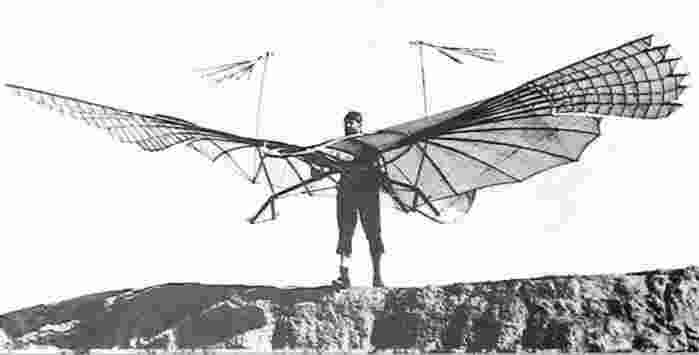 Otto the first Hang Glider